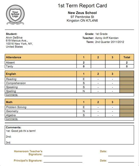 relationship  gradebooks  report