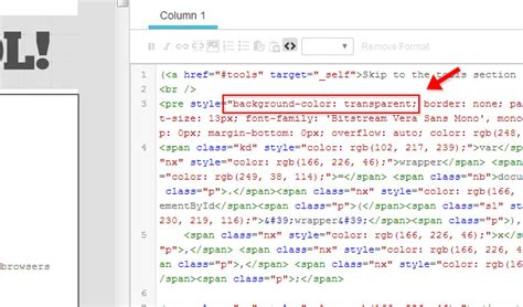 background color code syntax highlighted code in html emails in mailchimp
