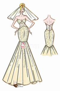 Dress Sketch - Strapless Sweetheart Mermaid Gown for Prom ...