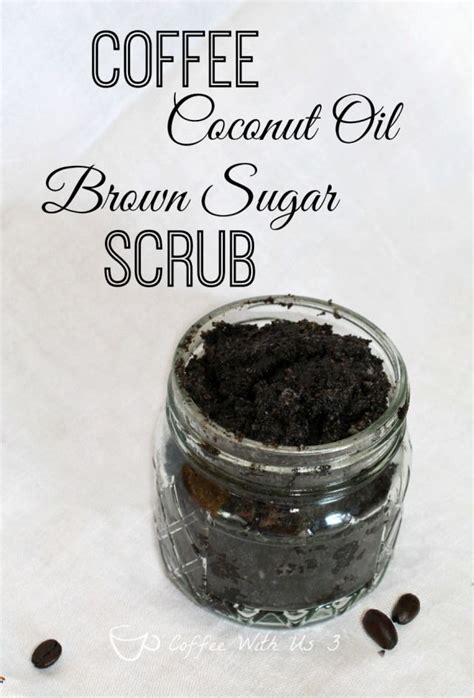So to combat this i added about a half a cup of coffee grinds. Coffee Coconut Oil Brown Sugar Scrub - Coffee With Us 3 | Coconut oil brown sugar scrub, Brown ...