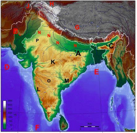 india physical map quiz  divina