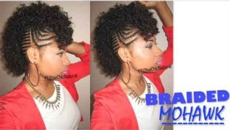 1000+ Ideas About Braided Mohawk Hairstyles On Pinterest