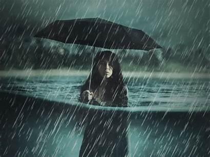 Rain Animated Painting Matte Photoshop Psd Dribbble