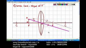 Ray Diagram Convex Lens 5 Object At F