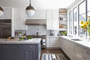cocina blanca 42 disenos de cocinas que te encantaran With kitchen colors with white cabinets with flower pictures wall art