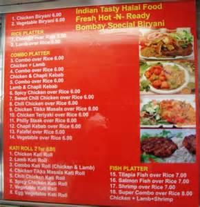 Mediterranean Kitchen Ideas by Menu Indian Tasty Halal Cart 171 Cbs New York
