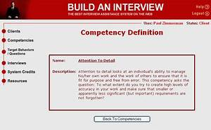 Build an Interv... Competency Definition