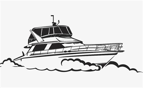 Boat Icon Png White by Black And White Hand Painted Yacht Vector Yacht Yacht