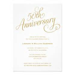 golden wedding anniversary invitations 50th wedding anniversary invitations