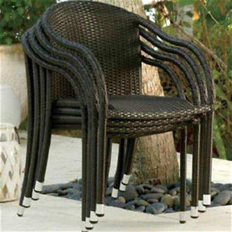 sale set of 2 resin wicker dining stacking chairs outdoor