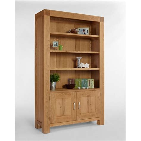 Chunky Bookcase by Kingston Chunky Oak Bookcase With Cupboard The Furniture