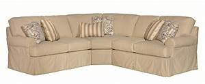 Five piece slipcover sectional sofa with rolled arms by for 5 piece sectional sofa cover