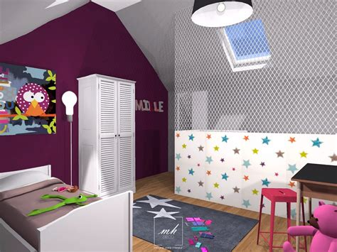 beautiful idee chambre bebe mansardee 2 photos design