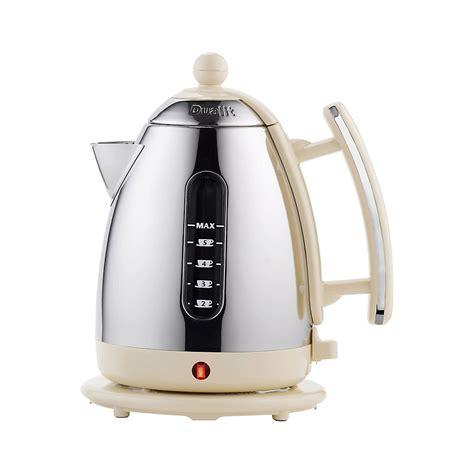 dualit 1 5 litre cream stainless steel jug kettle