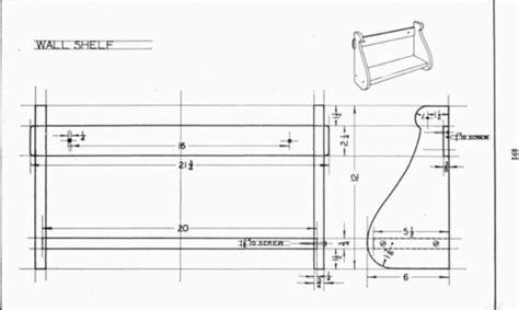 plate  wall shelf mechanical drawing