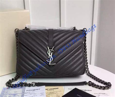 saint laurent classic medium college monogram bag  dark gray malelasse leather