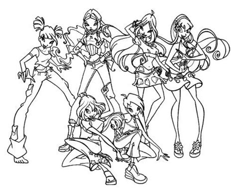 Character Winx Club Coloring Pages