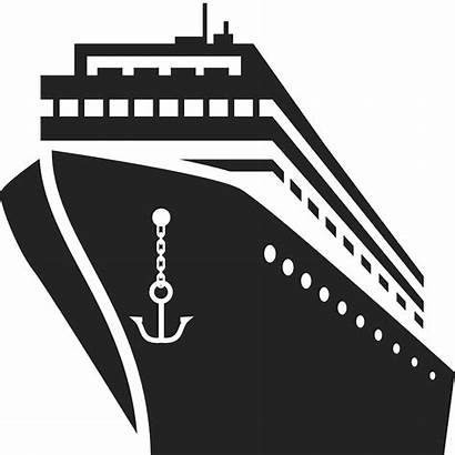 Ship Cruise Clipart Stamp Rubber Luxury Silhouette