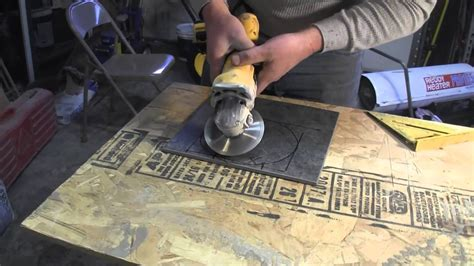 How To Cut Porcelain Tileusing An Angle Grinder Youtube