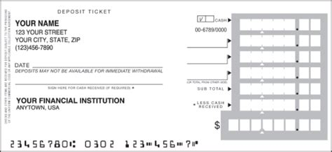 blank deposit slip printable deposit slips blank sle bank teaching autos