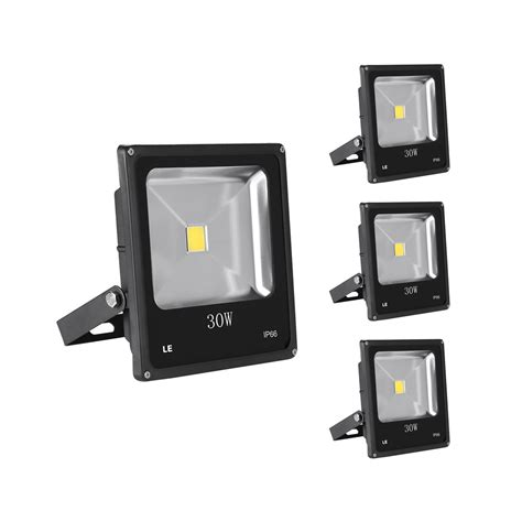 30w led exterior flood light fixtures daylight white pack