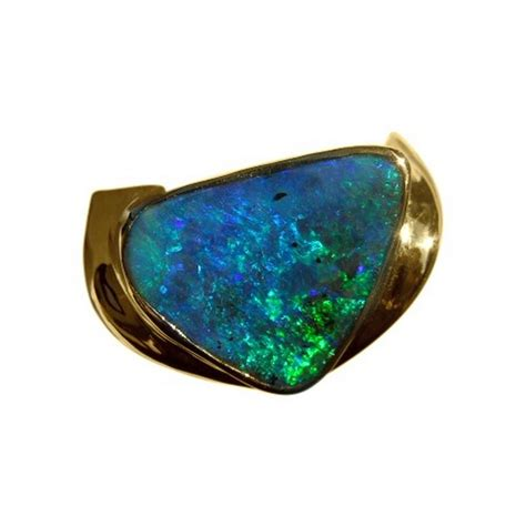 mens boulder opal ring  gold opal rings men flashopal