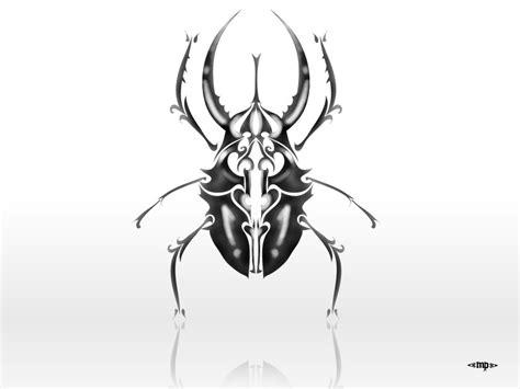 Scarab Beetle Tattoo  Scarab Beetle Tattoo Unique Black