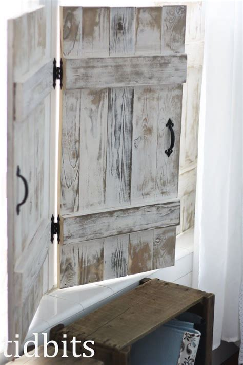 cottage fresh girls bedroom indoor shutters diy