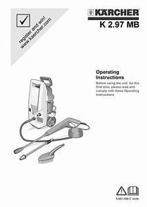 Karcher Pressure Washer Instructions Manual