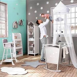 Chambre Fille : idee deco peinture chambre bebe fille