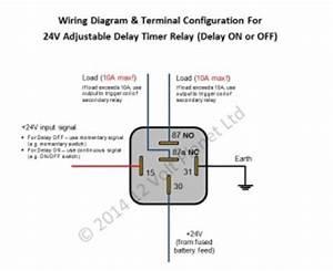 24v Adjustable Delay Timer Relay  Delay On  Off