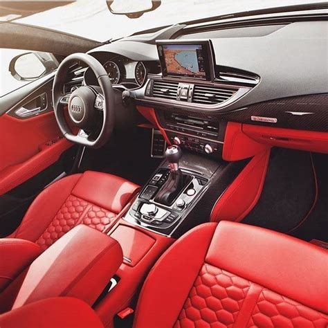 brilliant  audi rs sportback interior captured