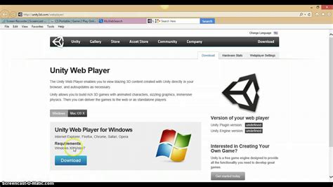 unity web player 64 bit