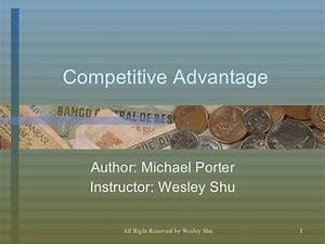 Michael Porter's Competitive Advantage