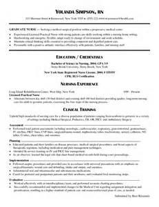 Sample New Graduate Nurse Resume Pics Photos Graduate Nurse