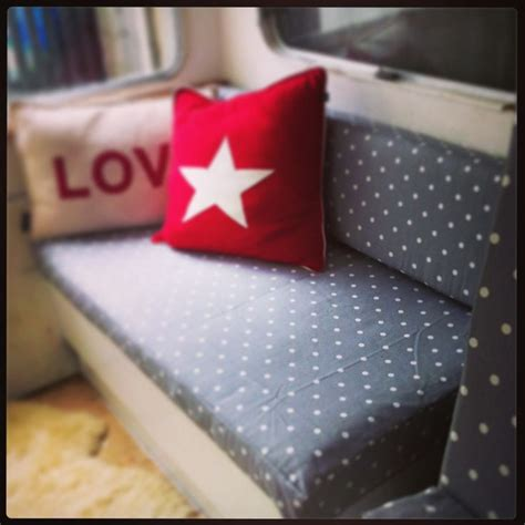 gray pin dot my anywhere grey polka dots cushion covers in our vintage caravan