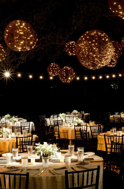 20 beautiful wedding lanterns with hanging on lights
