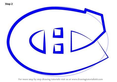 learn   draw montreal canadiens logo nhl step