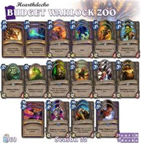 Zoo Warlock Deck Hearthstone by Decks Tags And On