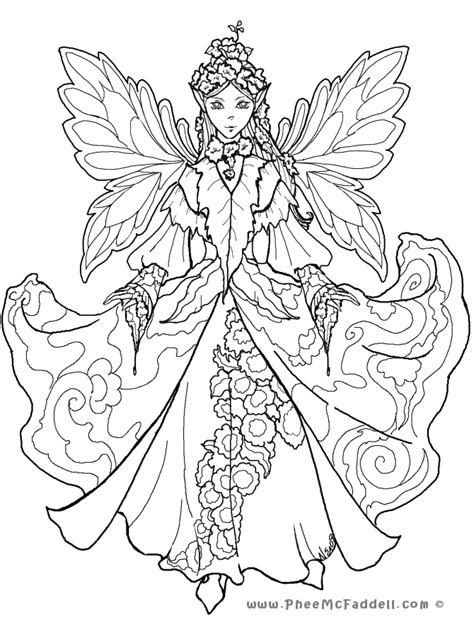 Court Fairy 2 Coloring Page
