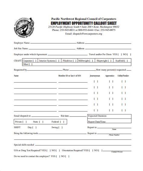 sample call sheet template   sample templates