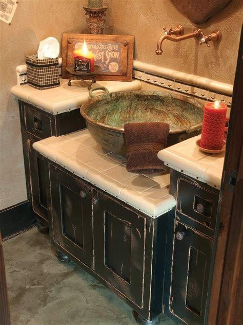 Bathroom Vanities With Bowl Sinks by Distressed Bathroom Vanity The Sink Bowl Rustic