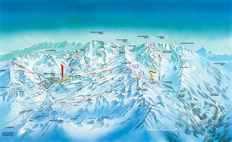val thorens piste map trail map