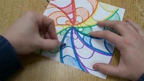 Easy Op Art Design For Kids Youtube
