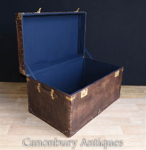 leather steamer trunk coffee table leather steamer trunk luggage case side table coffee