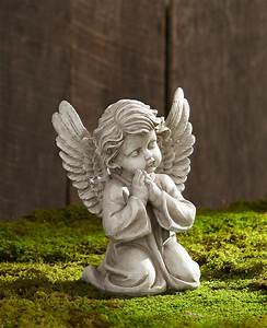 Praying Cherub Statue - Outdoor Living - Outdoor Decor ...