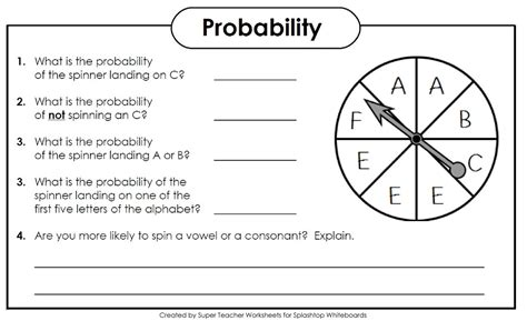 Probability Worksheets High School Pdf Worksheets For All  Download And Share Worksheets Free