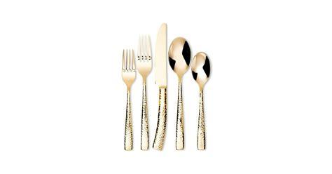 gold flatware hammered piece popsugar