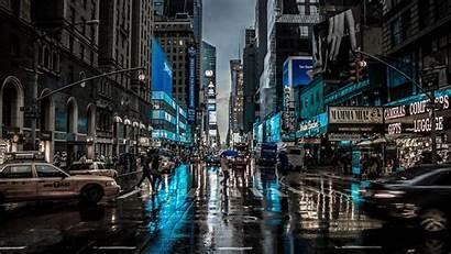 4k Dark Street York Blur Motion Reflection