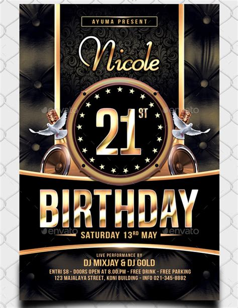 birthday flyer templates word psd ai vector eps